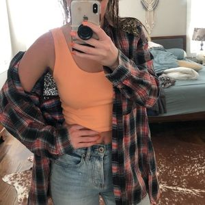 Free people vintage style flannel with gold sequin